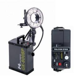 Falcon Eyes Ringflitser 800 Ws RFH-800 + Accu GK-800BP + Tas