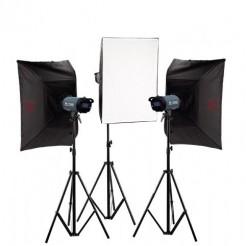 Falcon Eyes Studioflitsset TFK-3400L met LCD Scherm