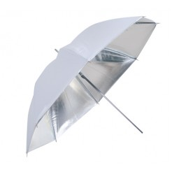 Linkstar Flitsparaplu PUK-84SW Zilver/Wit 100 cm (Omkeerbaar)