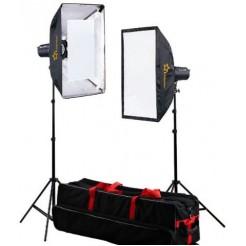 Linkstar Studioflitsset DLK-2350D Digitaal met Tas